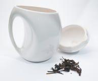 茶和罐 免版税库存照片