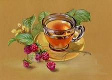 茶和莓 库存照片