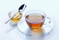茶和蜂蜜 库存图片