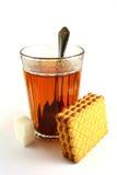 茶和饼干的时刻 免版税库存图片