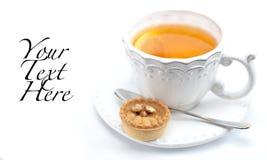 茶和馅饼 免版税库存照片