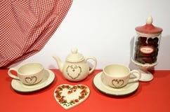 茶商店菜单设计 图库摄影