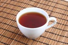茶在席子的 免版税库存图片