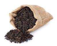 茶在白色隔绝的驱散大袋 库存图片
