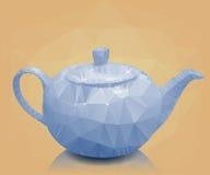 茶壶传染媒介例证多角形马赛克  库存照片