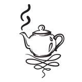 茶壶传染媒介手拉的例证 茶壶象 库存图片