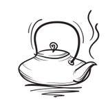 茶壶传染媒介手拉的例证 茶壶象 免版税库存照片