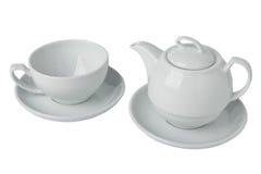 茶壶和茶杯集合 图库摄影