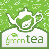 茶壶用绿茶 图库摄影