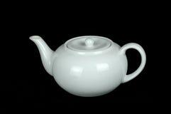 茶壶白色 免版税库存照片