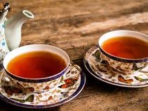 茶壶红茶绿茶老板 免版税库存图片