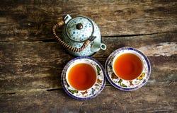 茶壶红茶绿茶老板 图库摄影