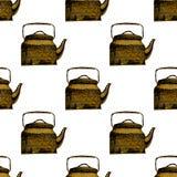 茶壶背景样式 免版税图库摄影