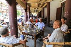 茶屋在yongning的镇在四川,瓷 库存图片