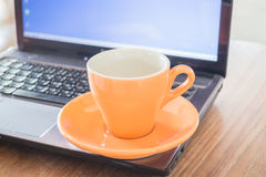 茶工作时间断裂  库存图片