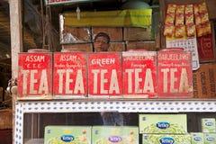 茶待售,加尔各答,印度 免版税库存照片