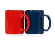 茶或咖啡的两个杯子 免版税图库摄影