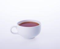茶或热的茶杯在背景 库存图片