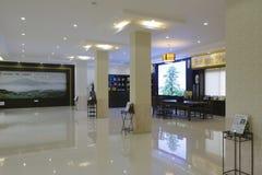 茶文化交流中心的霍尔 库存图片