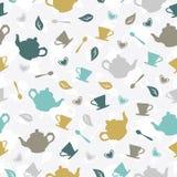 茶无缝的样式 库存照片