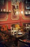 茶时间在餐馆 免版税库存图片