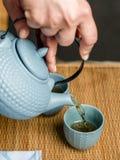 茶时间亚洲方式 免版税库存照片