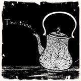 茶时间例证 免版税库存图片