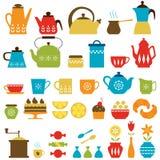 茶时间和咖啡时间 免版税库存照片