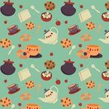 茶曲奇饼样式 免版税库存图片