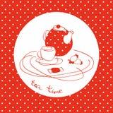 茶服务商标 库存例证