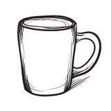 茶杯传染媒介手拉的例证 杯象 库存照片