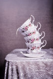 茶杯堆 免版税库存图片