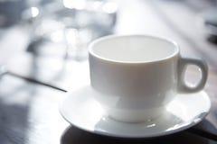 茶杯特写镜头视图 免版税库存图片
