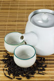 茶杯用茶叶 库存照片