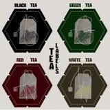 茶标签 向量例证