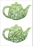 绿茶概念 皇族释放例证