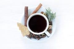 茶欢乐桌设置  库存图片