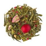 绿茶混合Sencha蔓越桔罗斯 免版税库存照片