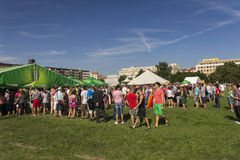 茶点站立布拉格自豪感2013年 免版税库存图片