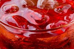 茶点:泡影、嘶嘶响和冰 库存照片