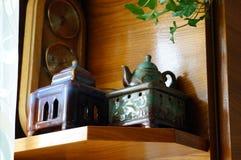 茶烹饪器材 库存图片