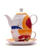 茶瓷集合 库存照片