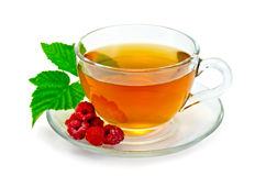 茶用在杯子的莓 图库摄影
