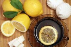 茶用柠檬 免版税库存图片
