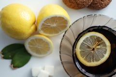 茶用柠檬 库存照片
