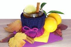 茶用柠檬 免版税图库摄影