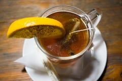 茶用桂香和lemoon 库存图片
