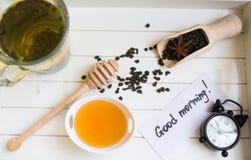 茶用蜂蜜 免版税图库摄影