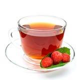茶用被隔绝的莓 免版税库存图片