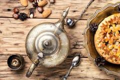 茶的开胃饼 免版税库存照片
